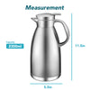 Chefio 78 Oz Stainless Steel Thermal Coffee Carafe/Double Walled Vacuum Insulated 2.3 Liter / 2300ML (Silver Color)