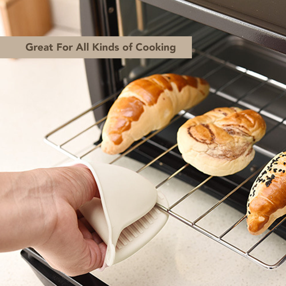 2pair Silicone Heat Insulation Silicone Oven Gloves Cooking Mitts Pinch Grips Kitchen Heat Resistant Gloves