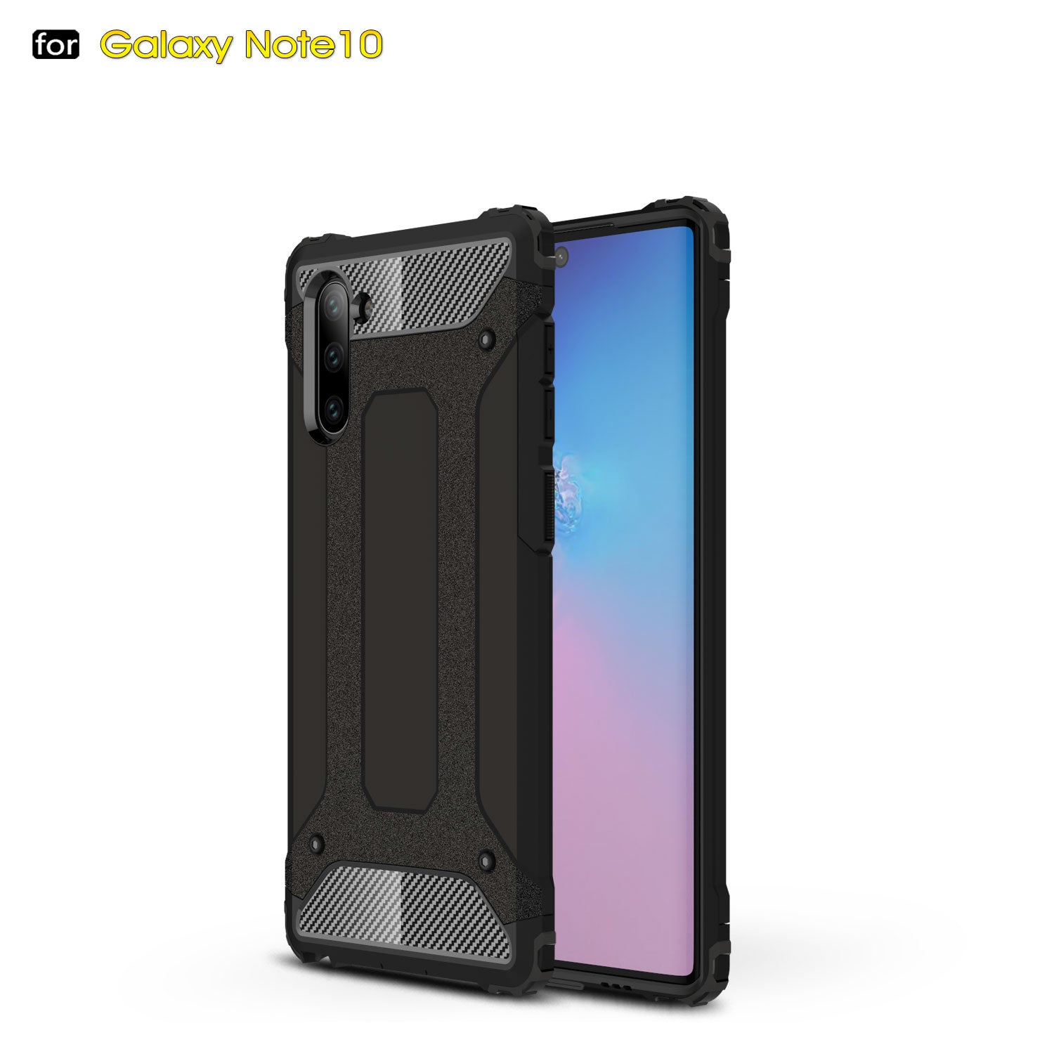 HYTX Galaxy Note 10 Case Armor ( Black )