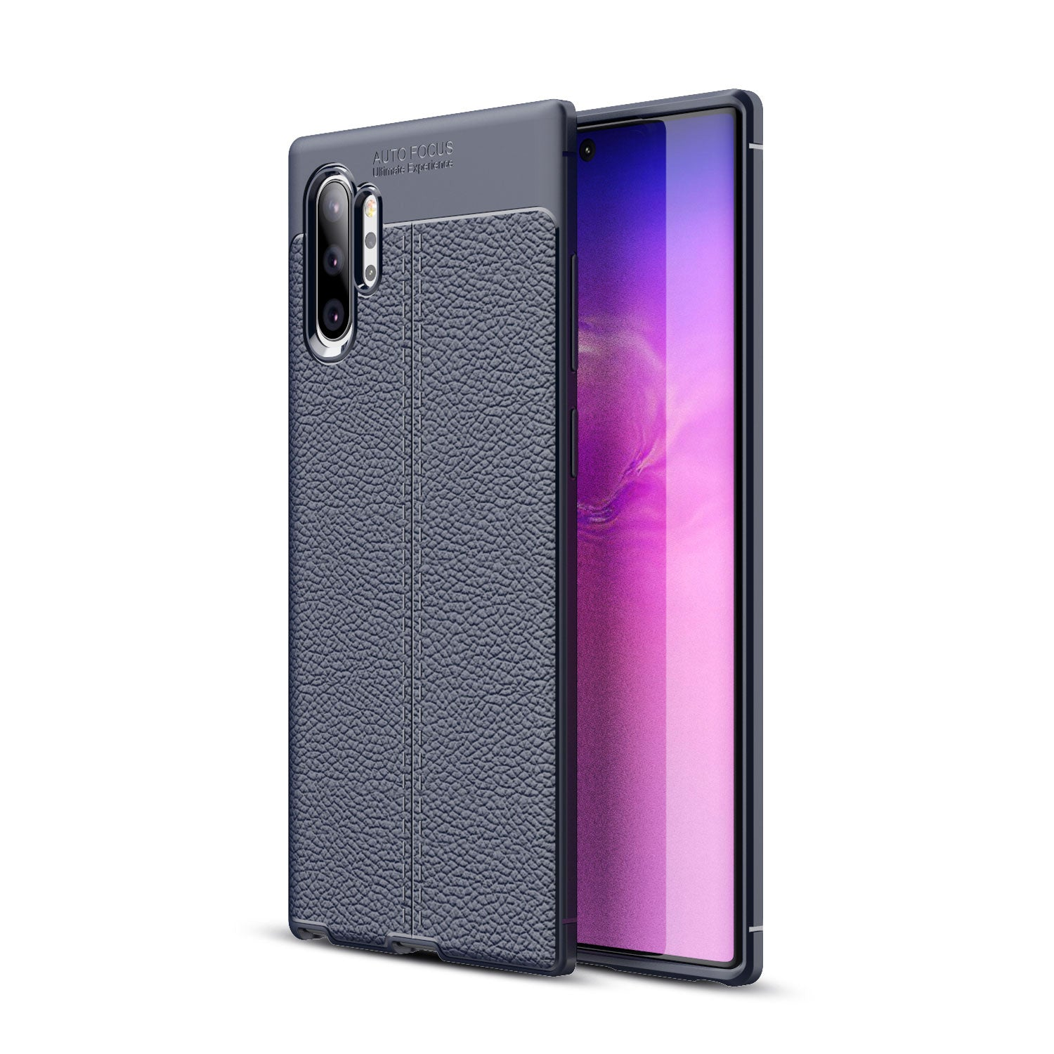 HYTX Galaxy Note 10+ Case Skin Texture ( Cyan-Blue )