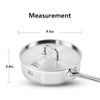3-Quart Stainless Steel Tri-Ply Frying Pan with Lid - 5mm Tri-Ply Capsule Bottom and Stainless Steel Lid, Induction Ready, Dishwaher Safe (9-Inch)