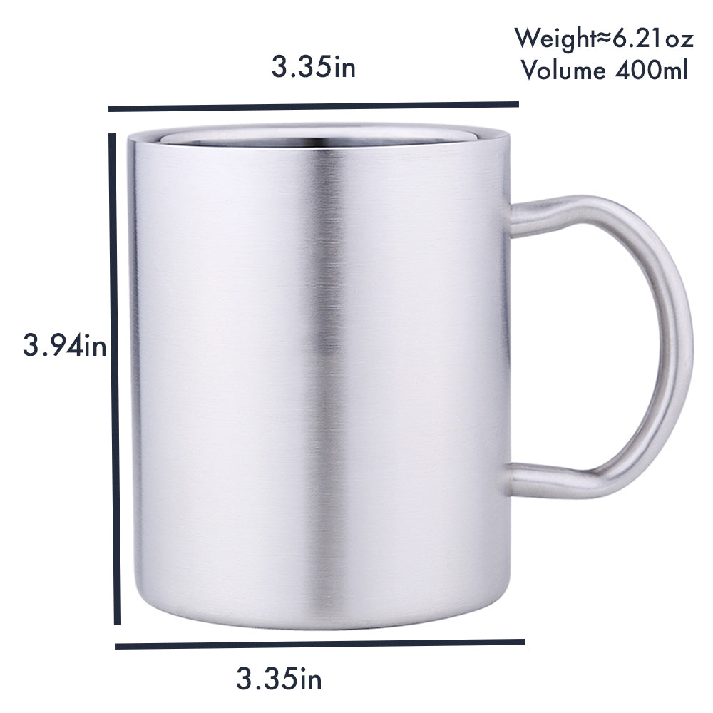 HYTX Double Wall Staineless Steel Cup with Handle