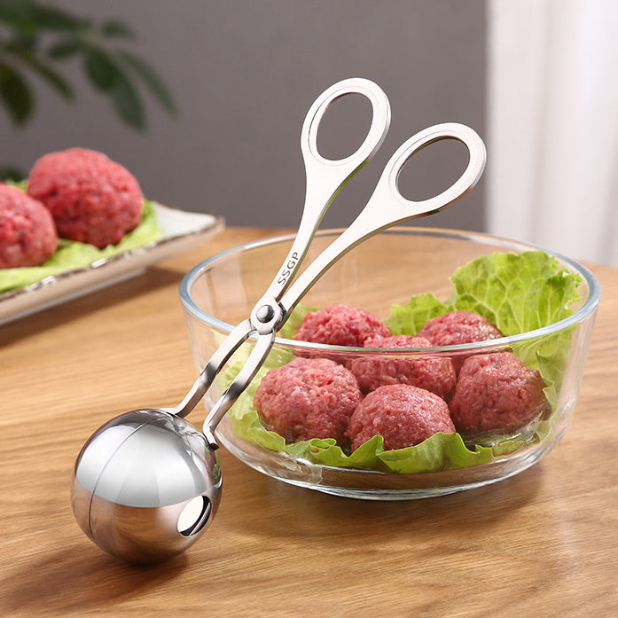 HYTX Meatball Scoop Ball Maker, Kmeivol Stainless Steel Tongs (6.7 Inches, 2PK)