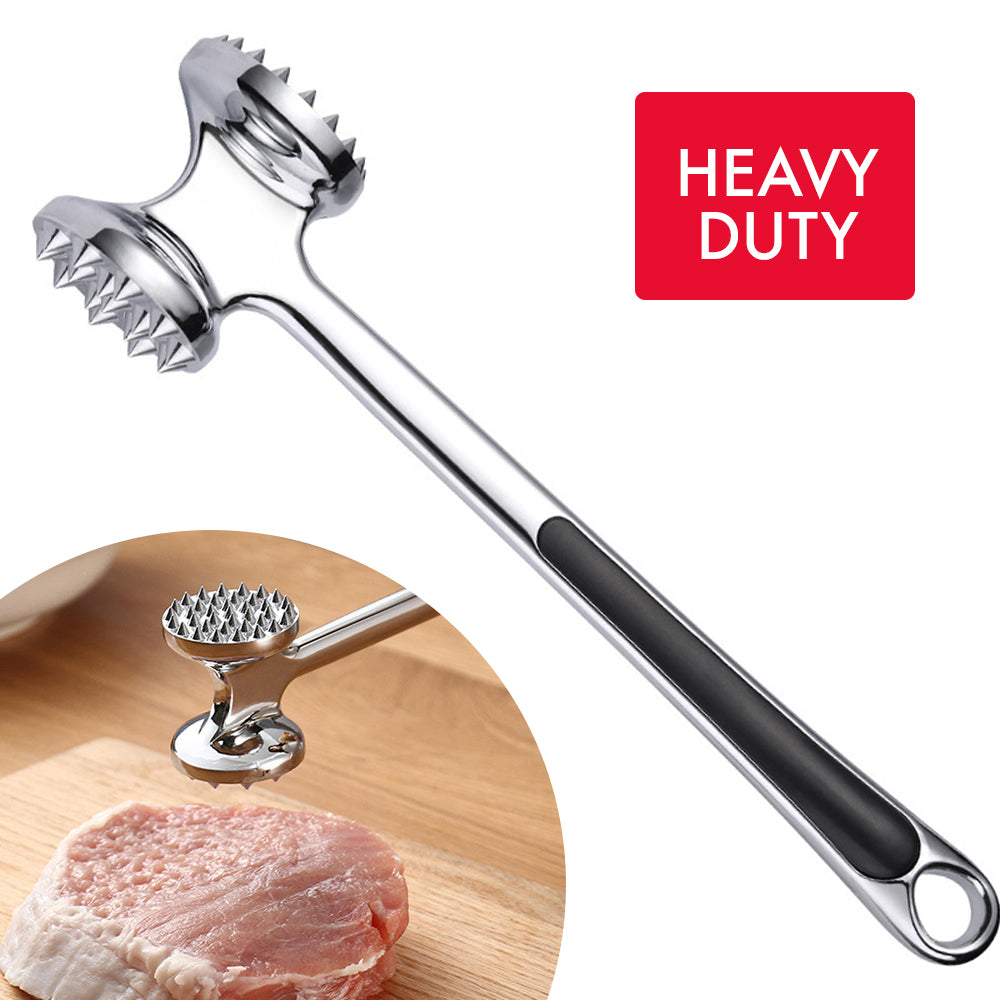 HYTX Stainless Steel Meat Tenderizer-2-Sided Hammer Beef/Chicken/Garlic/Ginger