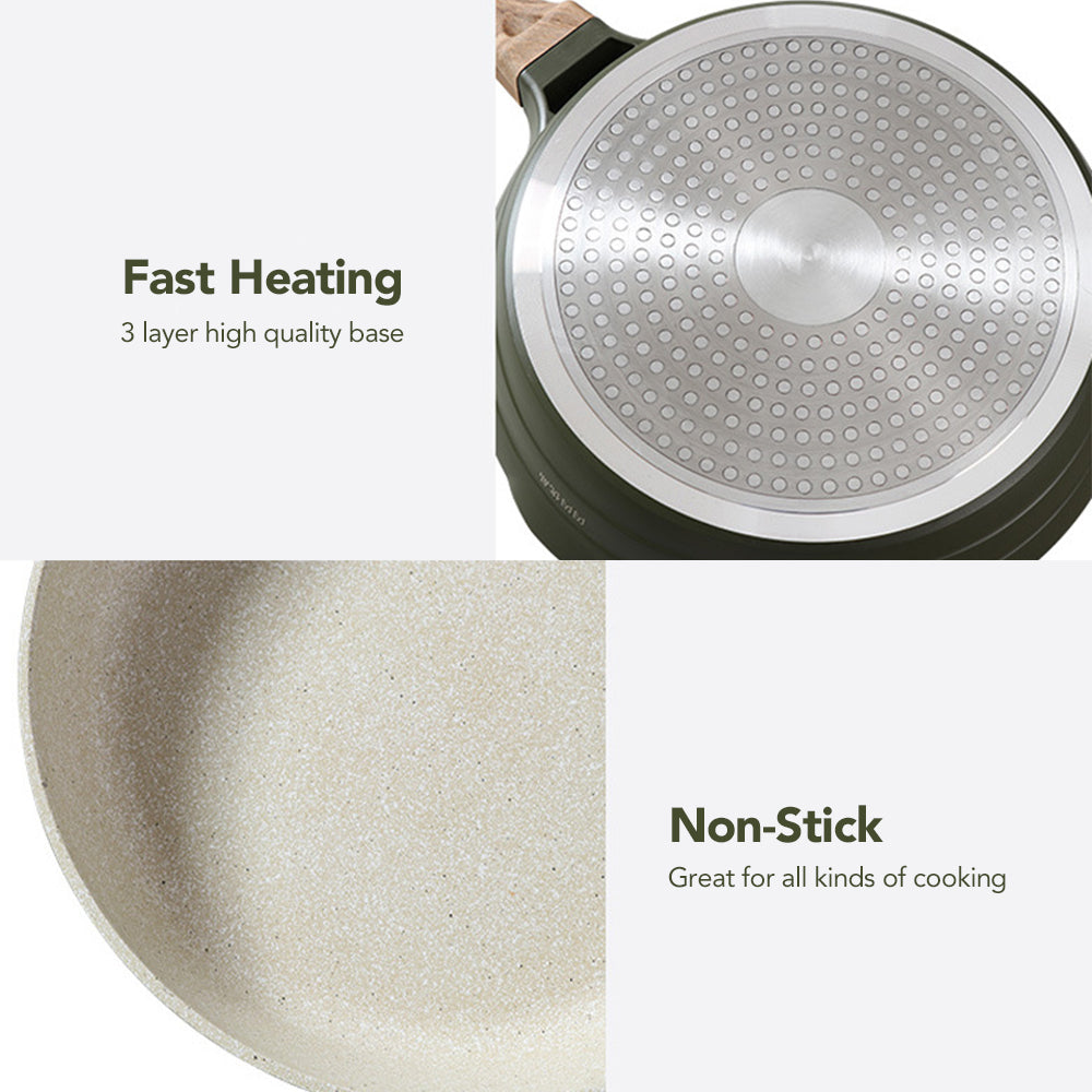 "CHEFIO 10"" Frying Pan with Lid"
