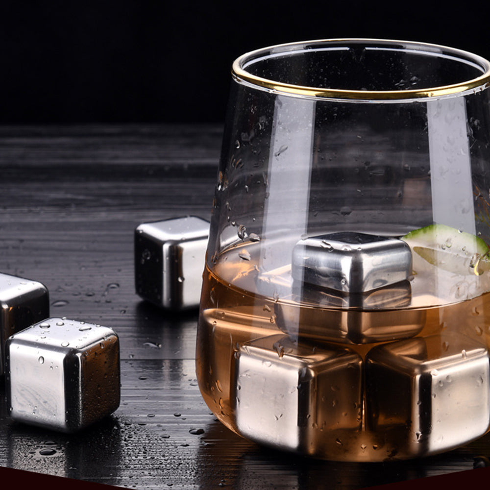 HYTX Stainless Steel Ice Cube For Whiskey Stones, Whiskey Rocks (10 PCS)
