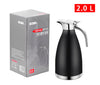 BOMA 68 Oz Stainless Steel Thermal Coffee Carafe/Double Walled Vacuum Insulated Thermos, 24 Hrs. Heat & Cold Retention (Black)
