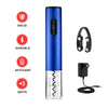 Rechargeable Cordless Electric Wine Opener with Foil Cutter and Charger (Blue)