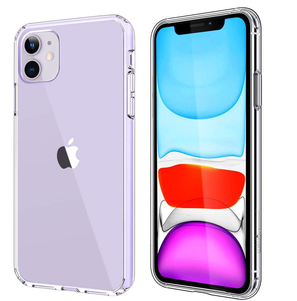HYTX iPhone 11 Crystal Clear Transparent Case, Shockproof Slim Fit Lightweight Case with Soft TPU Bumper and Anti-Scratch / Anti-Slip Back for iPhone 11 (2019) 6.1 Inch - Crystal Clear