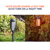 HYTX Solar LED Flames Outdoor Light, Waterproof Flickering Torches Lights for Landscape Decoration, Steps, Security, Patio, Deck, Yard, Driveway - Dusk to Dawn Auto On/Off (2 PC)