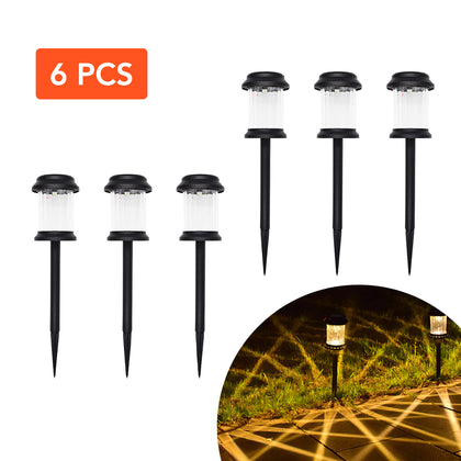 HYTX Solar LED Outdoor Pathway Lights, Waterproof - Good for Landscape Decoration, Steps, Security, Patio, Deck, Yard, Driveway - Dusk to Dawn Auto On/Off (6 PC)
