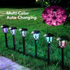 HYTX Solar LED Outdoor Pathway Lights, Waterproof, Color Changing - Good for Landscape Decoration, Steps, Security, Patio, Deck, Yard, Driveway - Dusk to Dawn Auto On/Off (10 PC)