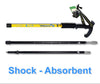 HYTX Adjustable Lightweight Aluminum Hiking Poles for Walking / Trekking / Hiking  [ 2-pc Pack ]  -  Shock - Absorbent, Ergonomical T-Shaped Grip, Strong Strap (Yellow)