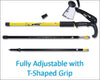 HYTX Adjustable Lightweight Aluminum Hiking Poles for Walking or Trekking  [ 2-pc Pack ]  -  Ergonomical Grip, Padded Strap (Yellow)