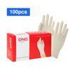 HYTX Disposable DND Clear Gloves, 100PCS High Density Rubber Gloves