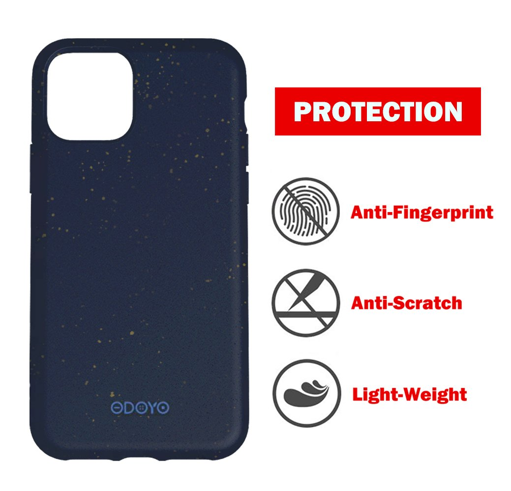 ODOYO iPhone 11 Pro Soft Silicone Case,Shockproof,Slim Fit,Full Silicon Gel Rubber Cover with Raised Edge for Camera and Screen Protection-Compatible with Apple iPhone 11 Pro 5.8 Inch 2019(Blue)