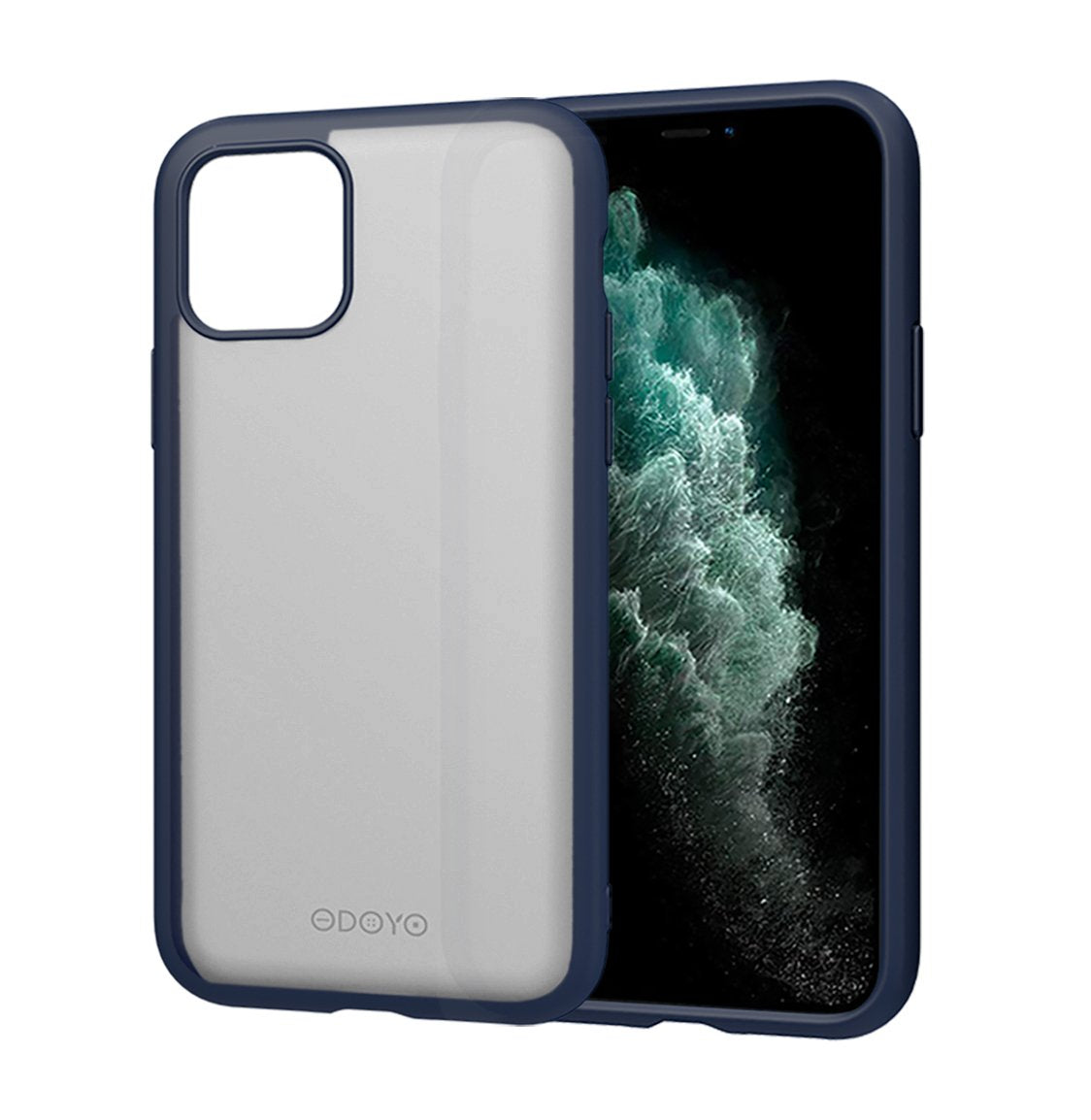 ODOYO iPhone 11 Translucent Matte Case with Soft Edges - Shockproof, Slim Fit, Lightweight with Soft Silicone Bumper and Anti-Scratch Hard Protective Back for iPhone 11 (2019) 6.1 Inch (Blue)