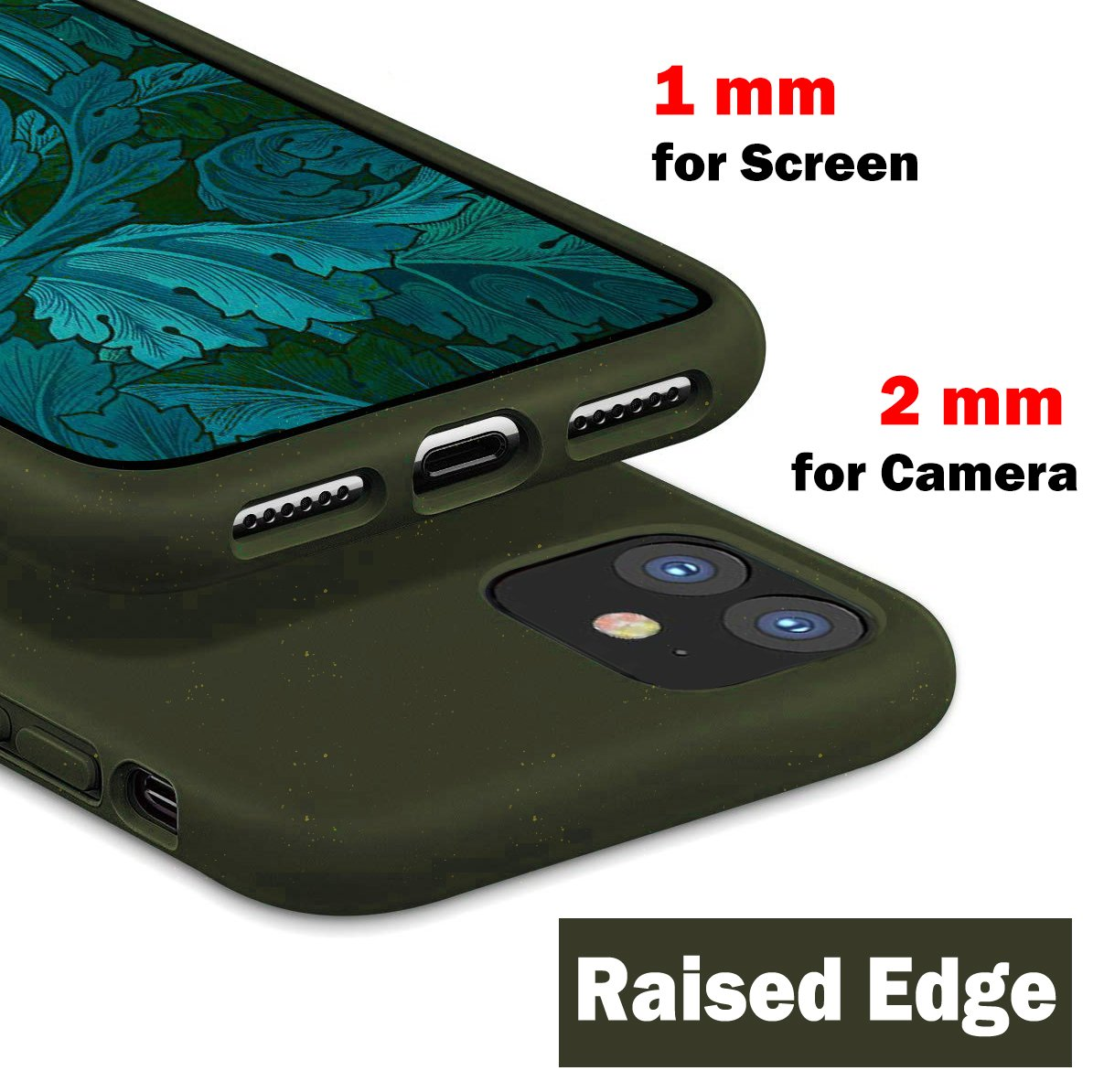 ODOYO iPhone 11 Soft Silicone Case, Shockproof, Slim Fit, Full Silicon Gel Rubber Cover with Raised Edge for Camera and Screen Protection - Compatible with Apple iPhone 11 6.1 Inch 2019 (Green)