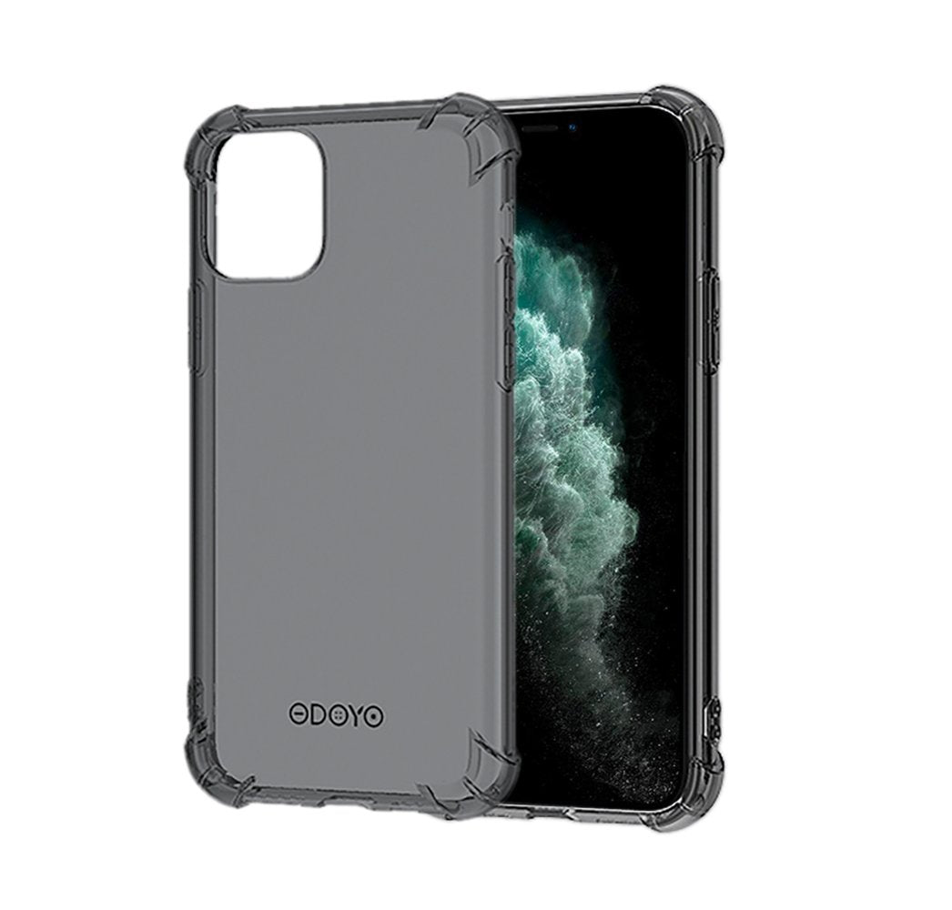 ODOYO iPhone 11 Pro Max Black Transparent Case, Shockproof, Slim Fit, Lightweight Case with Soft TPU Bumper and Anti-Scratch / Anti-Slip Back for iPhone 11 Pro Max (2019) 6.5 Inch - Black