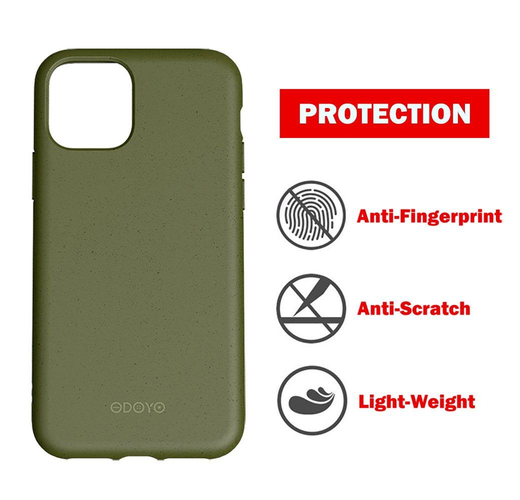 ODOYO iPhone 11 Pro Max Soft Silicone Case,Shockproof,Slim Fit,Full Silicon Gel Rubber Cover,Raised Edge for Camera and Screen Protection-Compatible with Apple iPhone 11 Pro Max 6.5 Inch 2019(Green)