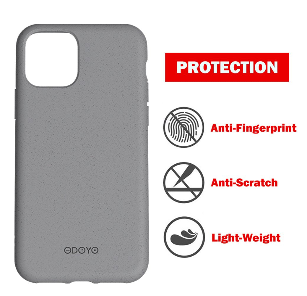 ODOYO iPhone 11 Pro Max Soft Silicone Case,Shockproof,Slim Fit,Full Silicon Gel Rubber Cover,Raised Edge for Camera and Screen Protection-Compatible with Apple iPhone 11 Pro Max 6.5 Inch 2019(Grey)