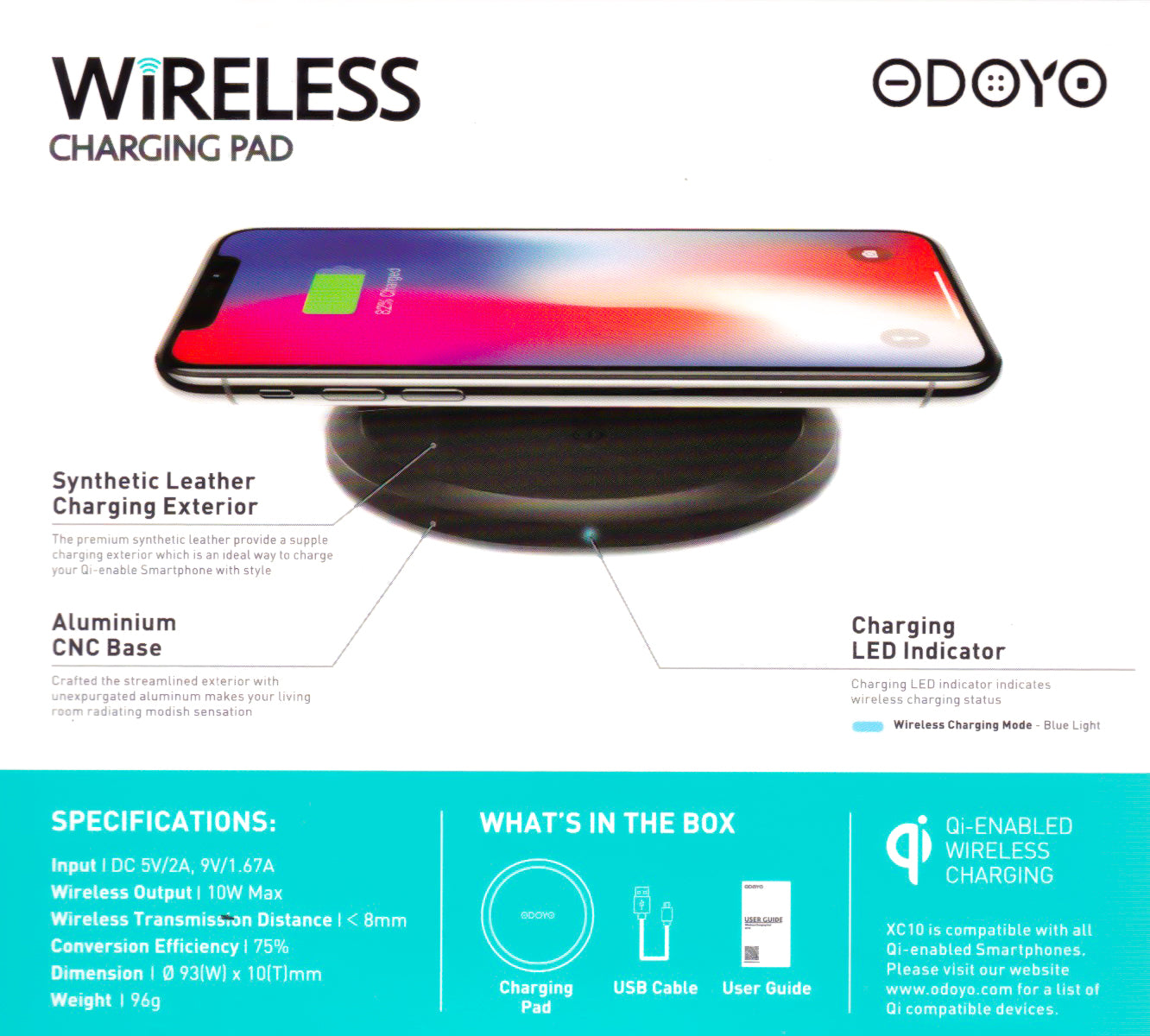 Odoyo Fast Charge Wireless Charging Pad