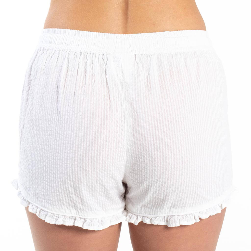 Seersucker Sleep Shorts - White