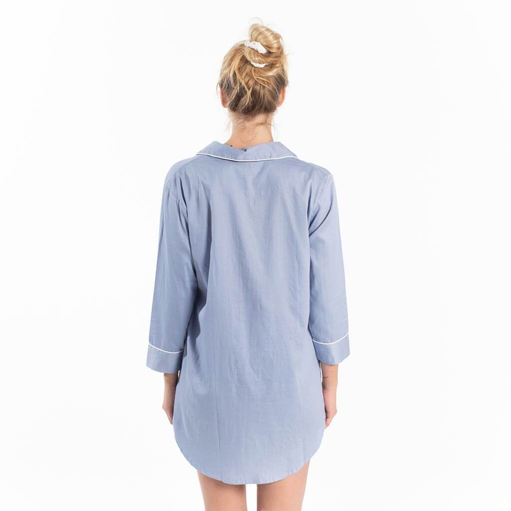 Button-Down Sleep Shirt - Blue
