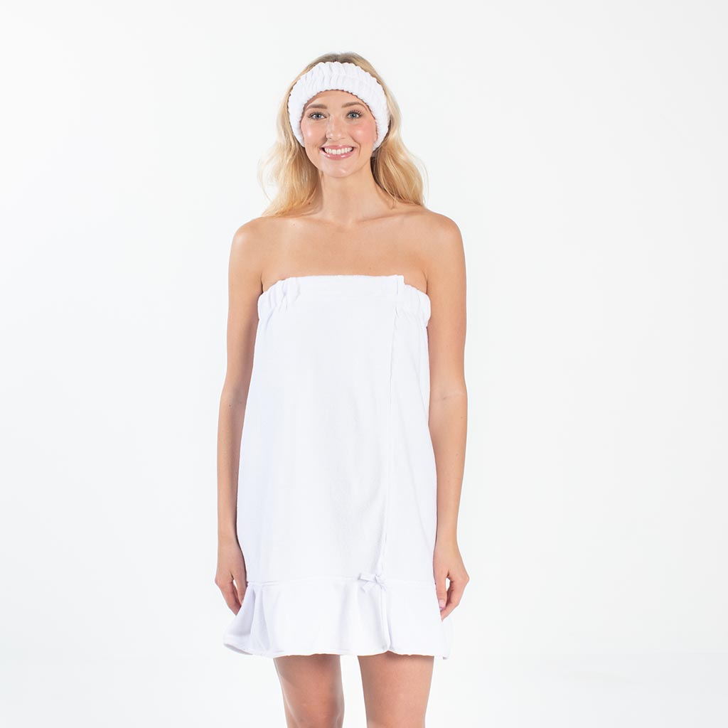 Spa Wrap - White