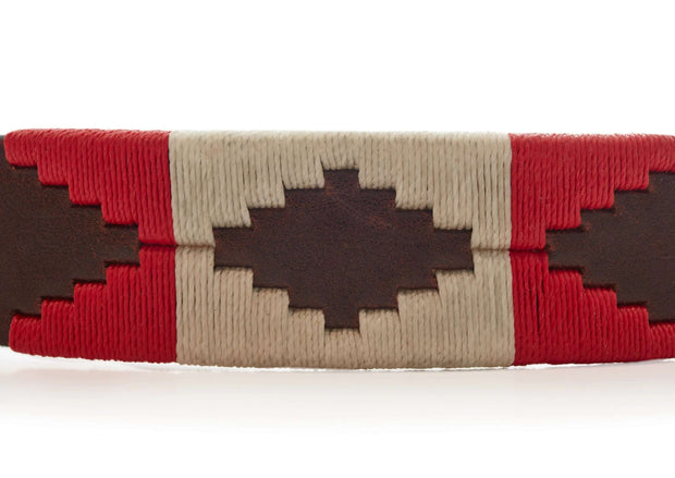 Pampa Belt - Red & White - Vakiano Artisans