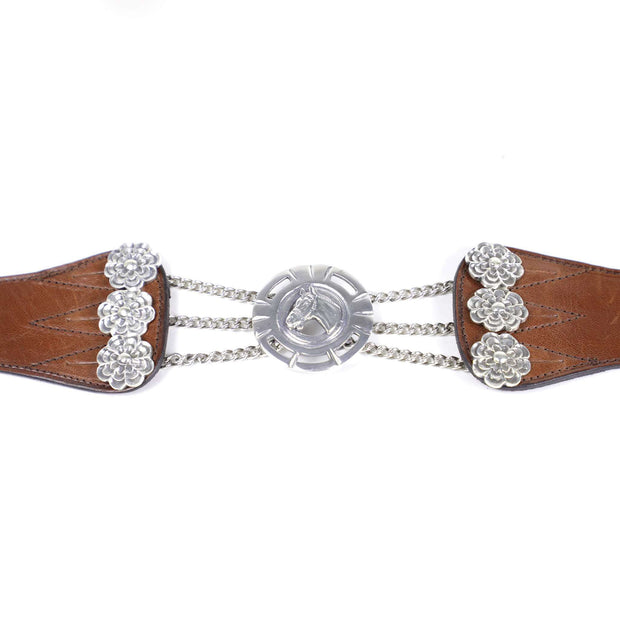 Silver And Leather Gaucho Rastra Belt - Vakiano Artisans
