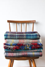 Load image into Gallery viewer, British Recycled Wool Blanket - Navy, Grey & Hints Of Burnt Orange