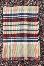 Load image into Gallery viewer, British Recycled Wool Blanket - Pistachio and Red