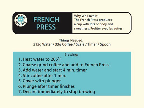 Brew with a French Press