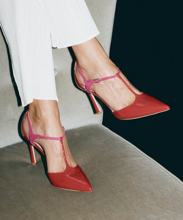 JACKIE PUMP - RED - 85