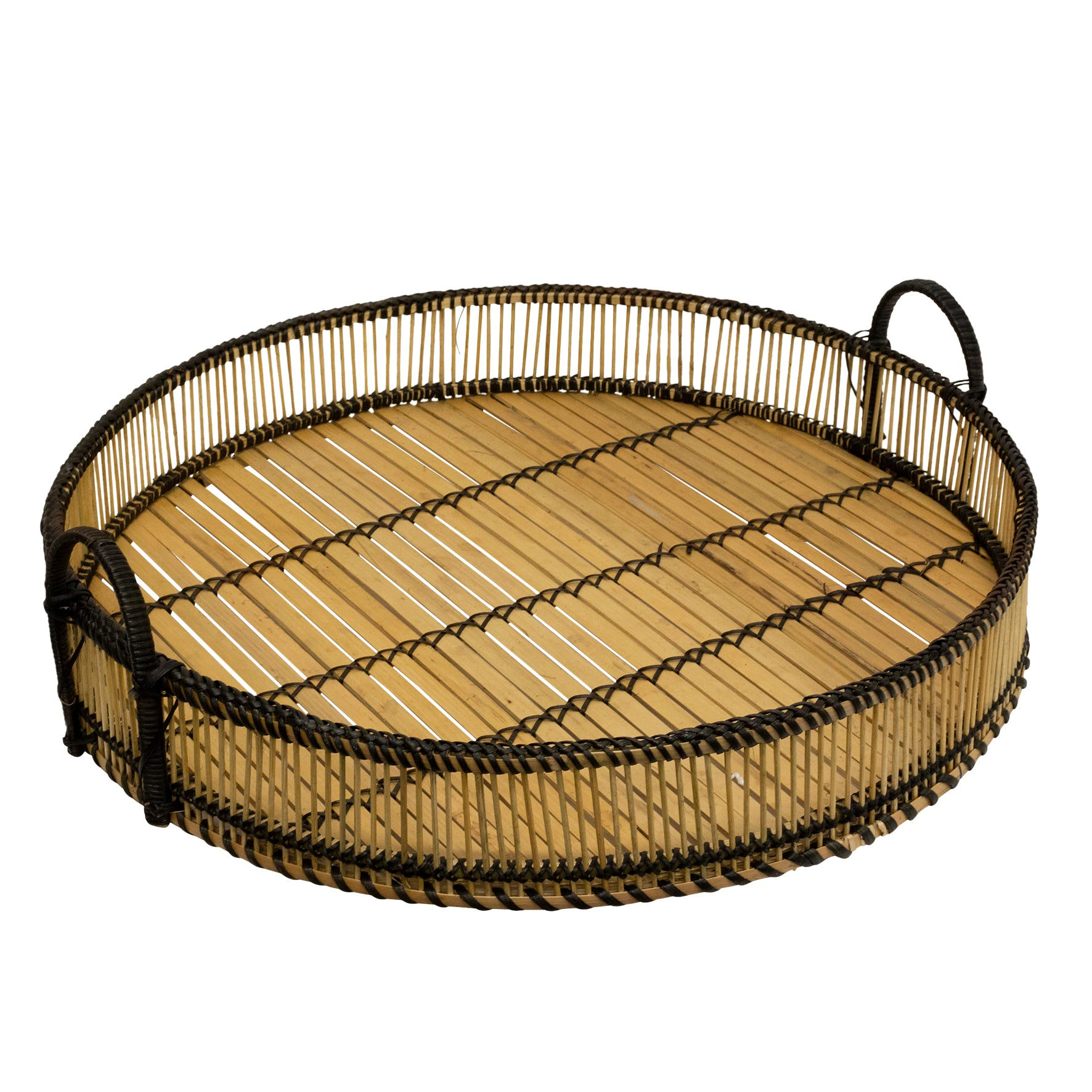 Large Round Woven Tray