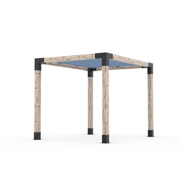 Pergola Kit With Shade Sail For 6x6 Wood Posts _8x10_denim