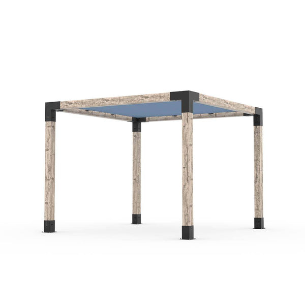 Pergola Kit With Shade Sail For 6x6 Wood Posts _10x10_denim