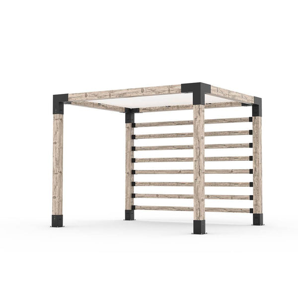 Pergola Kit with Post Wall for 6x6 Wood Posts _8x10_white