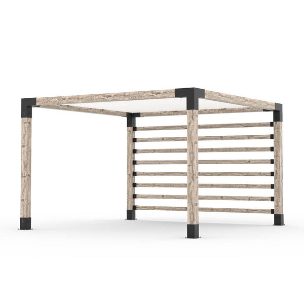 Pergola Kit with Post Wall for 6x6 Wood Posts _12x12_white