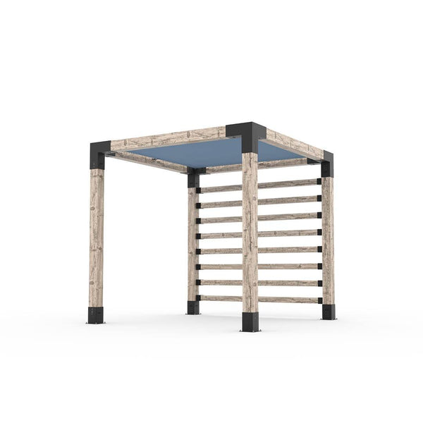 Pergola Kit with Post Wall for 6x6 Wood Posts _8x8_denim
