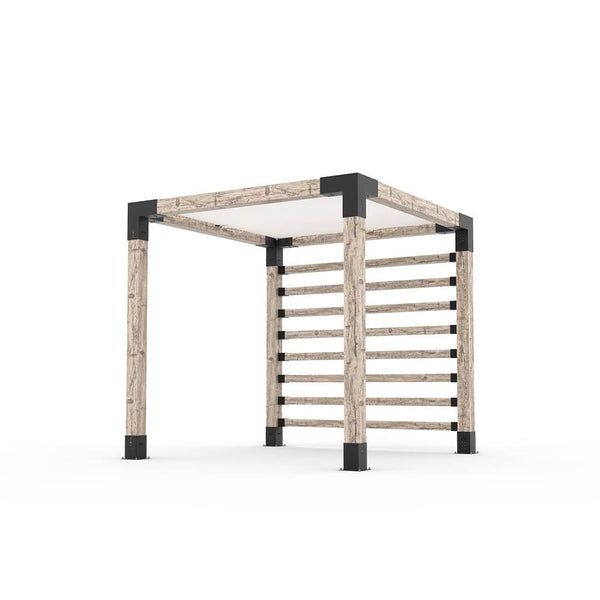 Pergola Kit with Post Wall for 6x6 Wood Posts _8x8_white