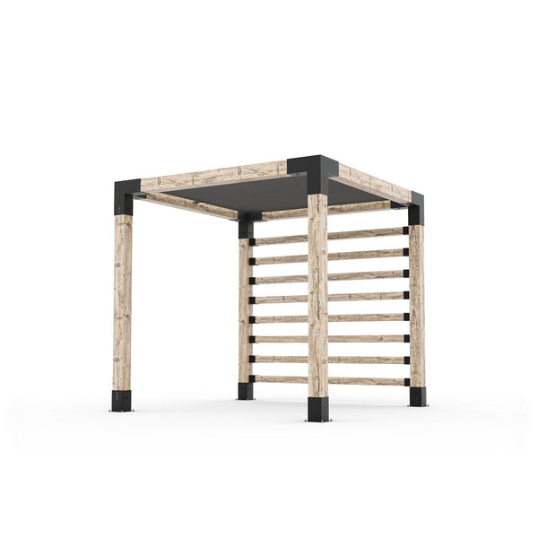 Pergola Kit with Post Wall for 6x6 Wood Posts _8x8_graphite
