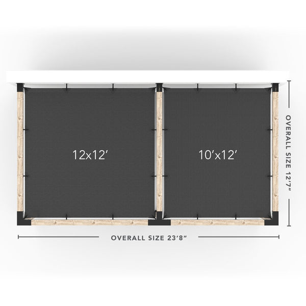 Toja Grid Double Pergola _12x22_graphite _12x22_crimson _12x22_denim _12x22_white