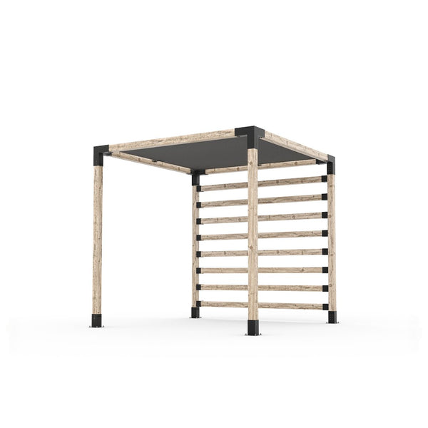 Pergola Kit with Post Wall for 4x4 Wood Posts _8x8_graphite