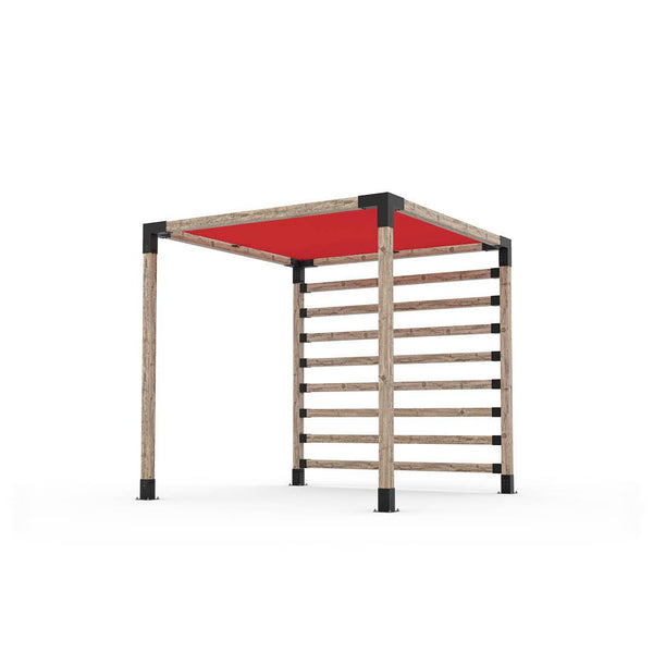 Pergola Kit with Post Wall for 4x4 Wood Posts _8x8_crimson