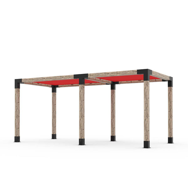 Toja Grid Double Pergola _8x18_crimson