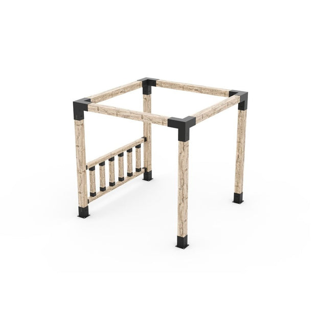 Any Size Pergola Kit With Post Wall For 6X6 Wood Posts
