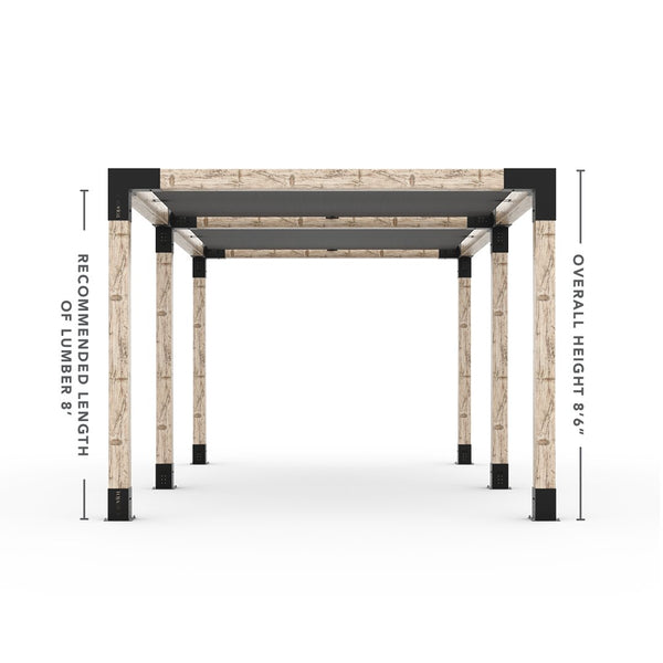 Toja Grid Double Pergola _10x24_graphite _10x24_crimson _10x24_denim _10x24_white
