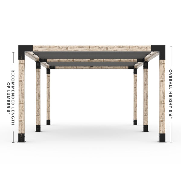 Toja Grid Double Pergola _12x20_graphite _12x20_crimson _12x20_denim _12x20_white